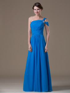 royal-blue-chiffon-one-shoulder-maternity-bridesmaid-dress
