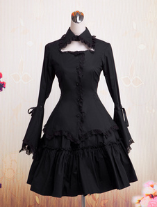 cotton-black-lolita-op-dress-with-lace-trim-long-hime-sleeves