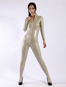 Image of Latex catsuit conciso Pullover donna
