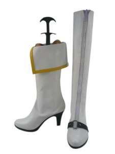 White 3 12 Heel Angewomon Digimon Faux Leather Cosplay Shoes