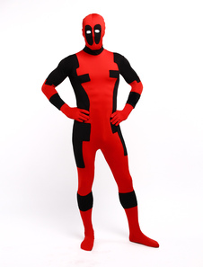 Halloween Deadpool Zentai Traje Lycra Spandex Superhero Entero BodySuit Power Ranger Halloween