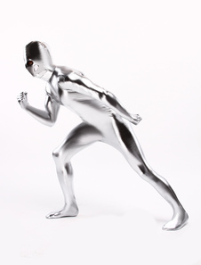 Silver Shiny Metallic Costume Inspired by Silver Surfer Halloween cosplay costume