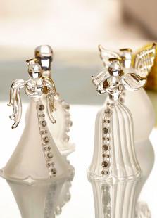 Shiny Rhinestone Glass Angel Table Centerpiece