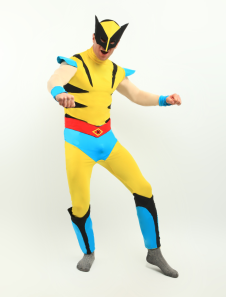 Yellow Superheros Leotard Bodysuit Lycra Spandex Bodysuit