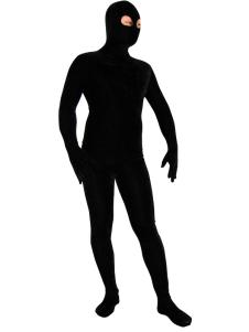 Black Spandex Zentai Costume Open Eyes