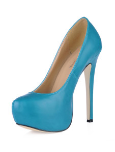 Chaussures à talons aiguilles avec plate-forme de couleur unie