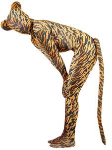Image of Abito da costume di tigre modello con coda lycra spandex unisex di Zentai  Carnevale