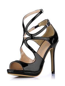 Sandali alla moda sexy metallichi