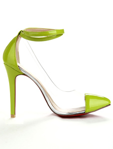 Green  Ankle Strap PC Womens Shoes