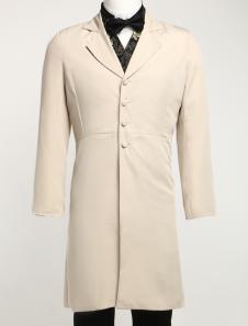 Handsome Khaki Lapel Full Length Buttons Jazz Cloth Mens Steampunk Coat