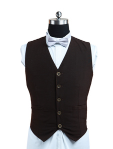 Unique Coffee Tweed Steampunk Waistcoat