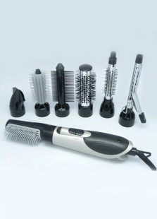 7 Attachment Allinone Hot Air Hair Brush Styler Dryer