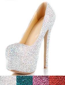 Gorgeous High Heel Rhinestone Fashion High Heels(4 colors)