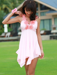 romantic-flowers-decoration-halter-womens-one-piece-swimdress