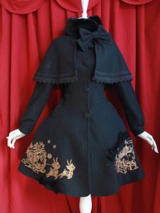 Classic Black Wool Cute Lolita Jackets