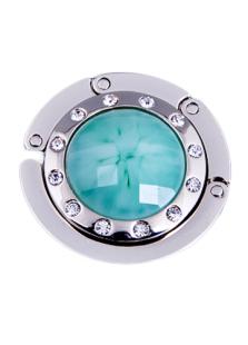 45 mm Turquoise Znic Nickel Rhinestone Acrylic Purse Hanger