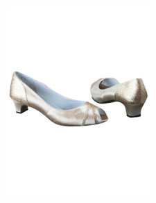 Champagne 1 35 Heel Open Toes Satin Wedding Shoes