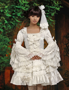 pure-white-lolita-one-piece-dress-long-hime-sleeves-lace-trim-bows