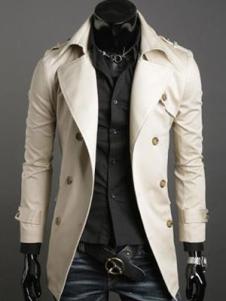 Abrigo de algodón de blanco crudo