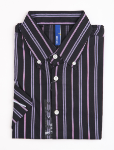 fashion-fuchsia-100-cotton-short-sleeve-striped-mens-shirt