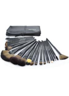 Professional Black 24 Pcs Make Up Brush Set