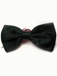 Image of Seta elastico di chic uomini neri come Satin Bow Tie
