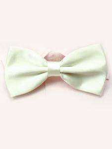 Image of Seta elastico di carino avorio uomo come Satin Bow Tie
