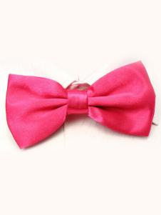 Image of Seta elastico di cute Pink uomini come Satin Bow Tie