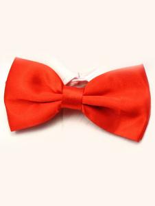 Image of Seta elastico di splendido uomo rosso come Satin Bow Tie