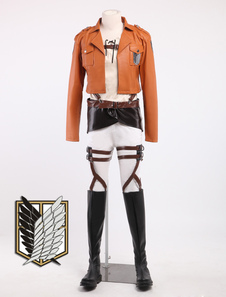 Cool Eren Jaeger Cosplay Attack On Titan Costume