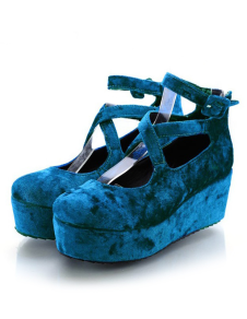 Charming Terry Ankle Strap Womens Platform Shoes