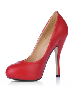 red-almond-toe-pu-womens-pumps