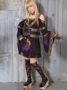 Image of Cotone viola punk Blend maniche lunghe Lolita Outfit