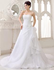 elegant short princess wedding dress american