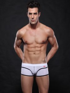 stylish-white-spandex-mens-swim-trunks