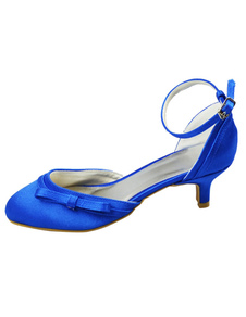 blue-round-toe-ankle-strap-satin-wedding-shoes