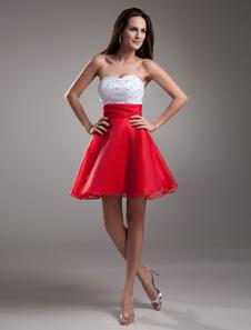 beaded-sweetheart-organza-short-prom-dress