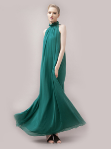 Unique Red Pleated Polyester Stand Collar Strapless Womens Maxi Dress