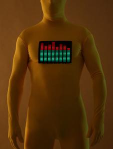 Amarillo Lycra Spandex resplandor en la oscuridad EL animado Panel Raver Unisex fabulosos trajes Zentai  Halloween