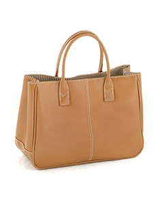 Chic Light Tan Horizontal Shape PU Leather Tote Bag For Women