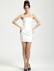 delicate-ivory-satin-strapless-womens-homecoming-dress