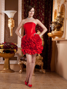 red-strapless-flowers-charmeuse-woman-prom-dress