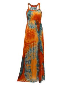 Tribal Tie Dye Womens Maxi Dress