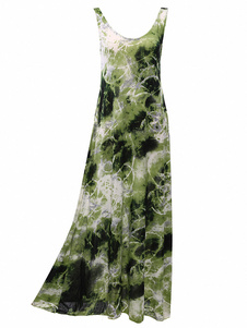 Sleeveless Tie Dye Maxi Dress
