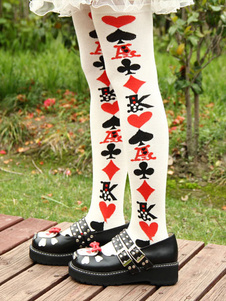 nylon-artwork-poker-pattern-lolita-socks