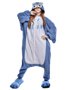 Kigurumi Pajama Owl Onesie For Adult fleece Flannel Animal Costume