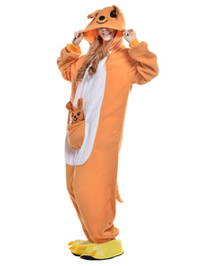 Kigurumi Pajama Bandicoot Onesie For Adult fleece Flannel Animal Costume