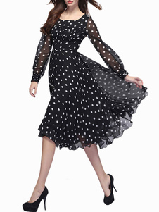 polka-dot-chiffon-dress