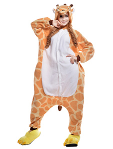Kigurumi Pajama Giraffe Onesie For Adult fleece Flannel Animal Costume