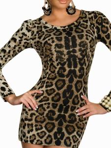 Velvet Leopard Mini Dress